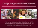 college of agriculture life sciences