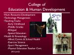 college of education human development