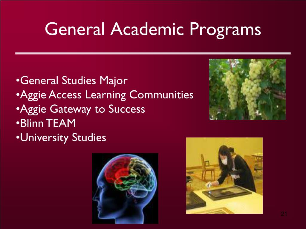General Academic Programs