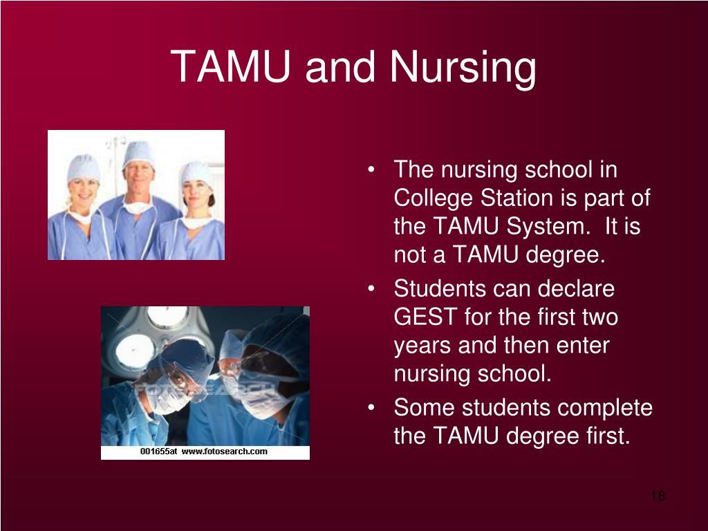TAMU and Nursing