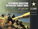 determine direction within the target area21