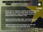 measuring from a reference point12