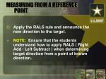 measuring from a reference point14