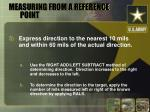 measuring from a reference point15