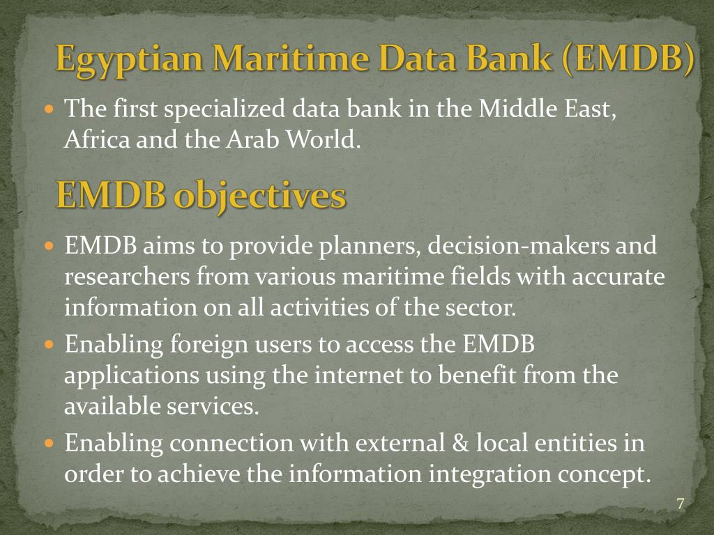 The first specialized data bank in the Middle East, Africa and the Arab World.