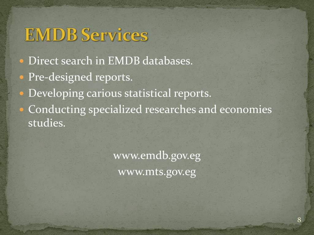 Direct search in EMDB databases.