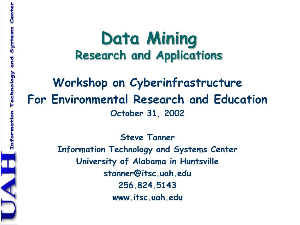 data mining research and applications l.
