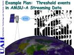 example plan threshold events in amsu a streaming data