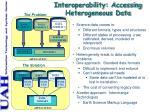 interoperability accessing heterogeneous data