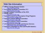 web site information