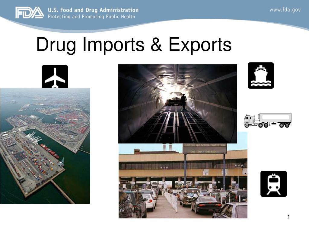 drug imports exports l.