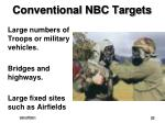 conventional nbc targets