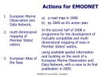 actions for emodnet