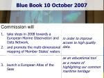 blue book 10 october 2007