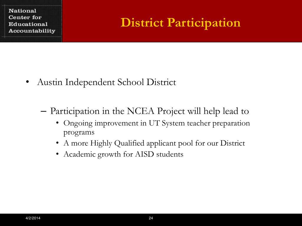District Participation