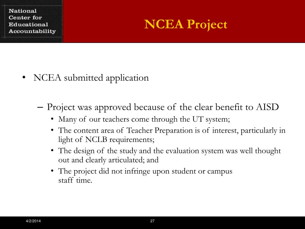 NCEA Project
