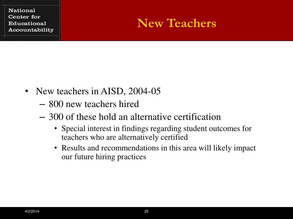 New Teachers