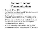 netware server communications