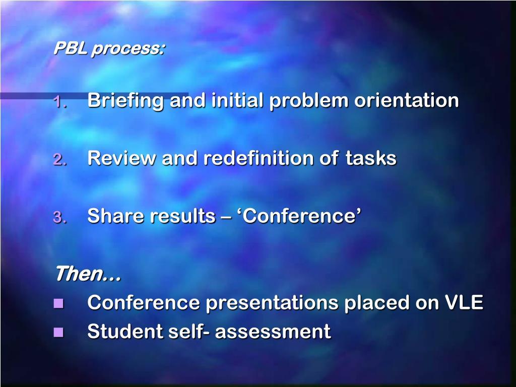 PBL process: