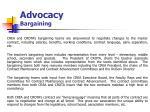 advocacy bargaining