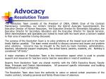 advocacy resolution team