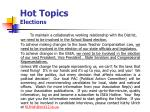 hot topics elections