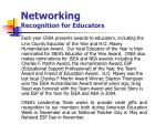 networking recognition for educators