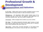 professional growth development communications and publications