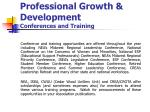 professional growth development conferences and training