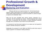 professional growth development mentoring and evaluation
