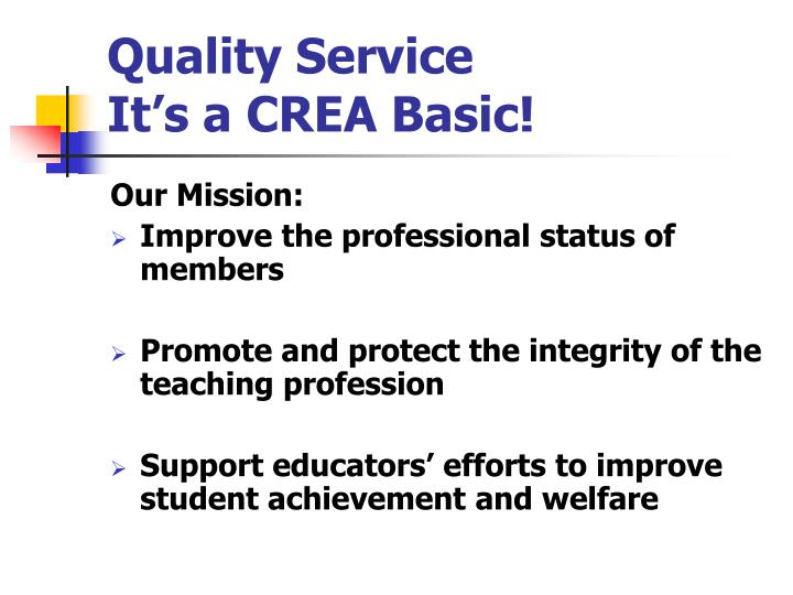 quality service it s a crea basic n.