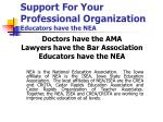 support for your professional organization educators have the nea