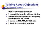 talking about objections the money issues