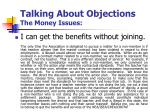 talking about objections the money issues2