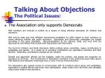talking about objections the political issues3