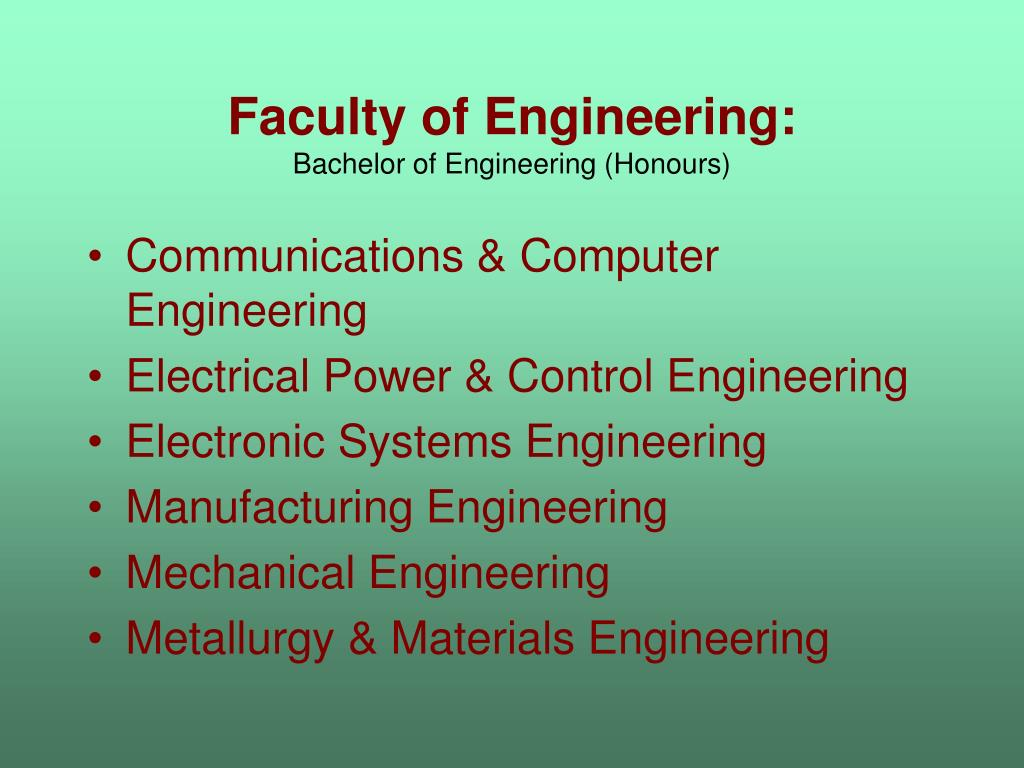 Faculty of Engineering: