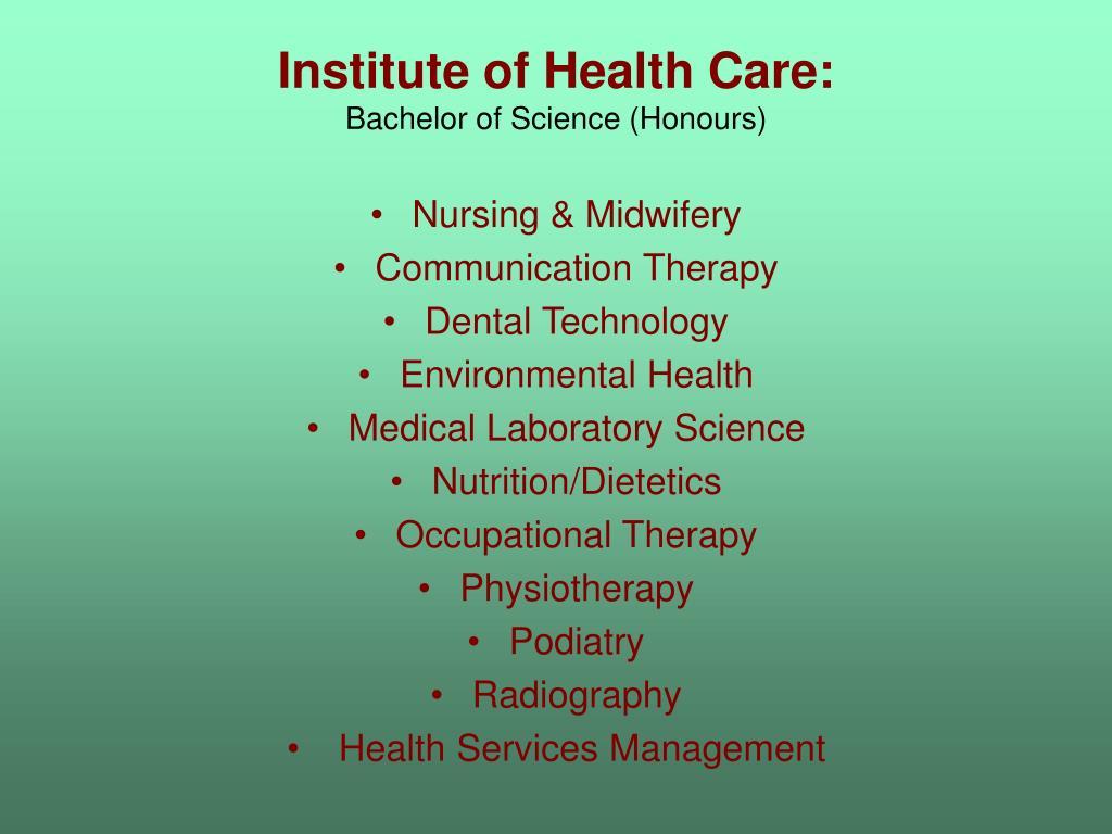 Institute of Health Care: