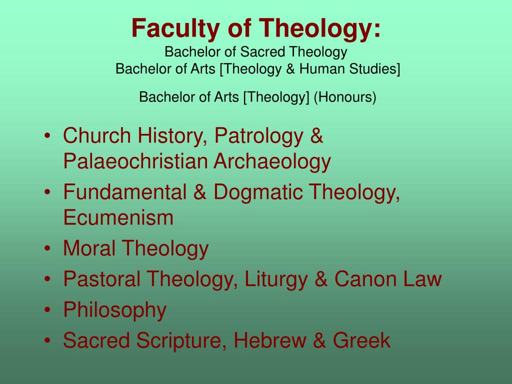 Faculty of Theology:
