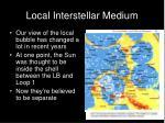 local interstellar medium