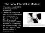the local interstellar medium