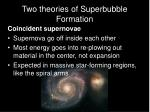 two theories of superbubble formation