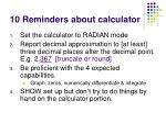 10 reminders about calculator