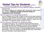 global tips for students continued