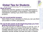 global tips for students