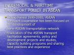 intermodal maritime transport policy in asean
