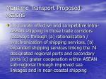 maritime transport proposed actions15