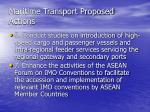 maritime transport proposed actions17