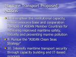 maritime transport proposed actions18