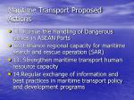 maritime transport proposed actions19