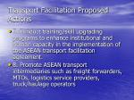 transport facilitation proposed actions22
